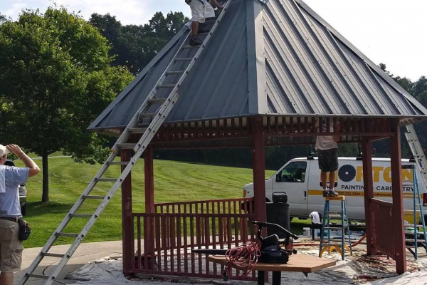 Pergola Painting For Chester County Customer