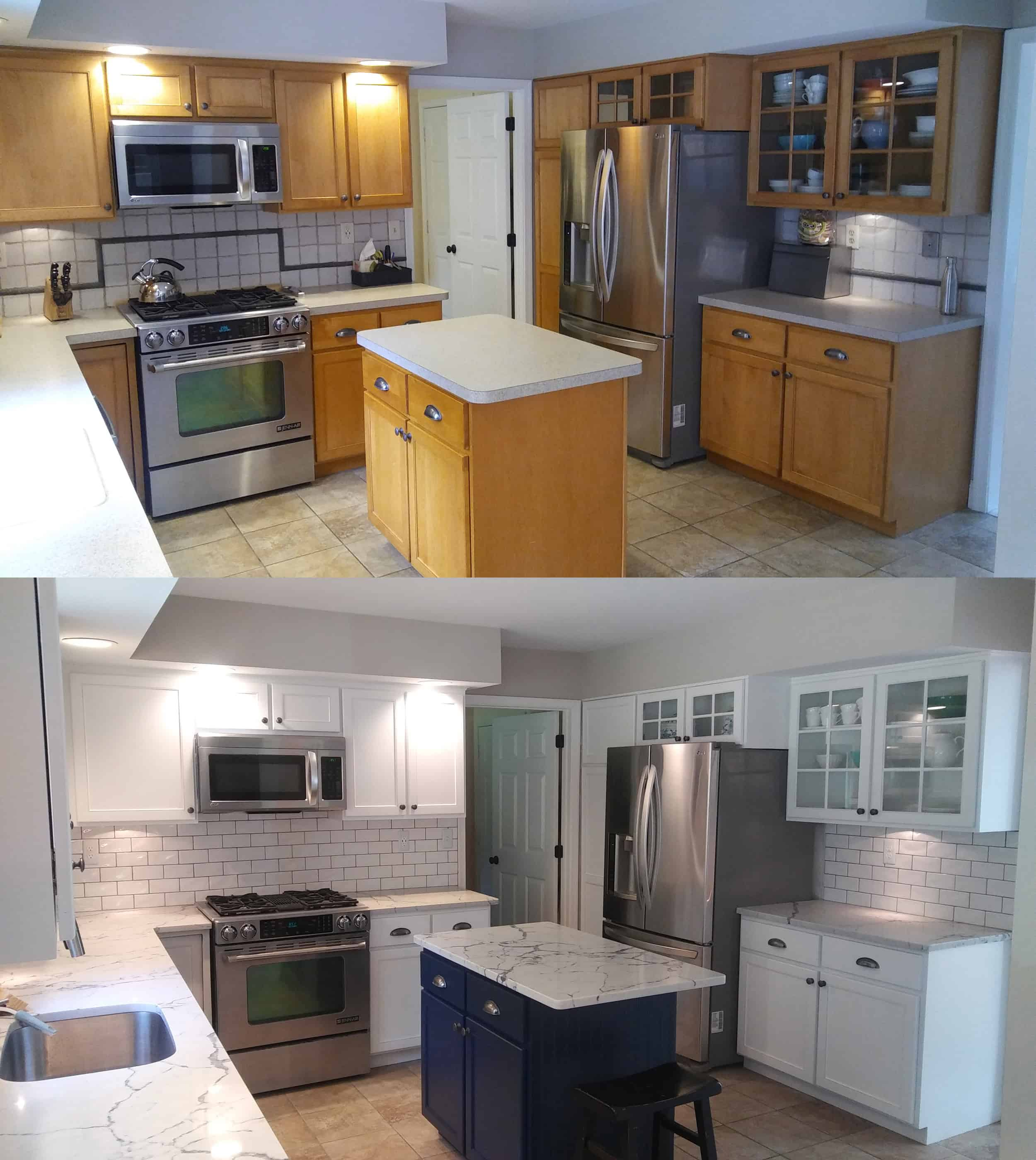 Kitchen cabinet painting before and after - MORTON Painting ...