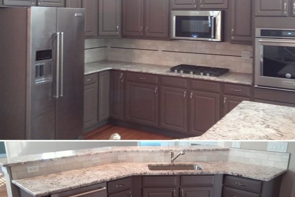 Amazing Kitchen Cabinet Paint Scheme on the Main Line!